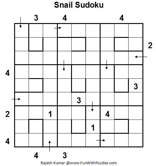 Snail Sudoku (Daily Sudoku League #74)