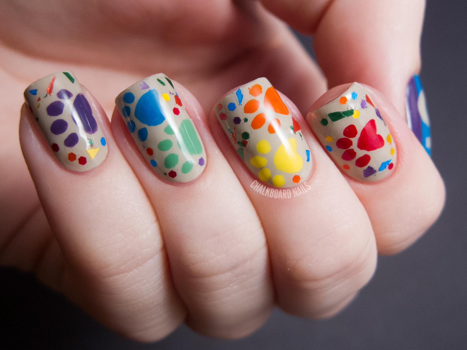Nail Art Mania: Best Nail Art from web : Multicolor