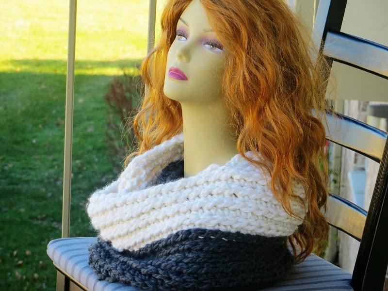 Chunky Infinity Scarf Crochet Pattern Knit Look Crochet Scarf