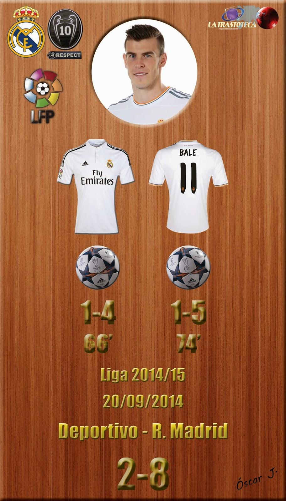 Gareth Bale (Un Doblete de un profesional) - Liga 2014/15. Jornada 4 (20/09/2014)