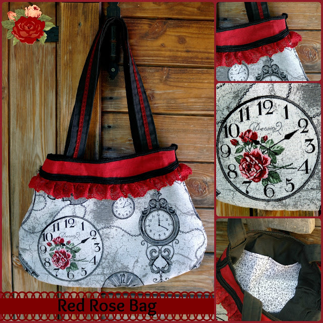 fabric bag clock