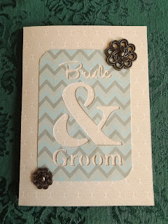 CTMH Cricut Wedding Card