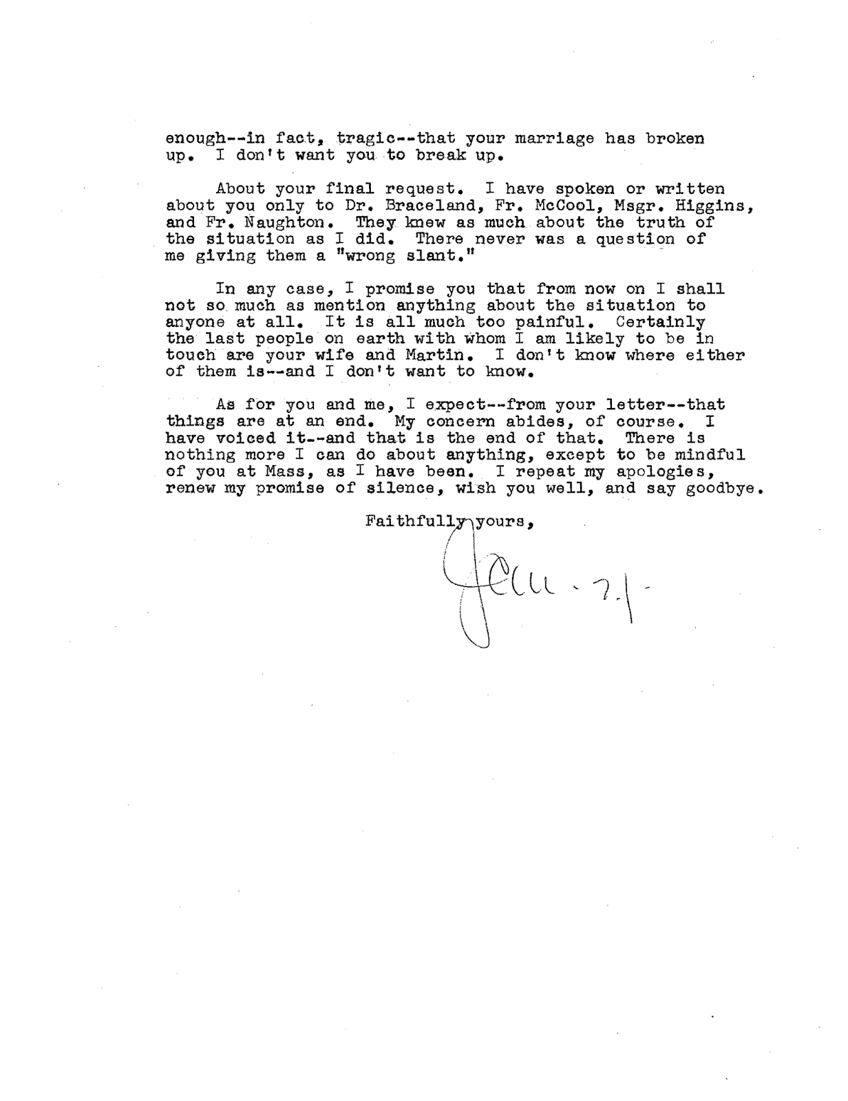Murray's letter page one