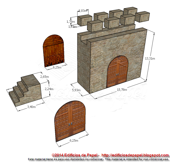 Pieces in the gate section of the Medieval Fortification