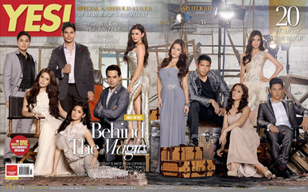 Star Magic's Brightest Stars on YES! July 2012 Cover: Piolo Pascual, Coco Martin, Bea Alonzo, Angelica Panganiban, John Lloyd Cruz, Shaina Magdayao, Maja Salvador, Kim Chiu, Gerald Anderson, Erich Gonzales, Enchong Dee