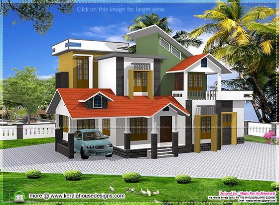 2098 sq ft house elevation