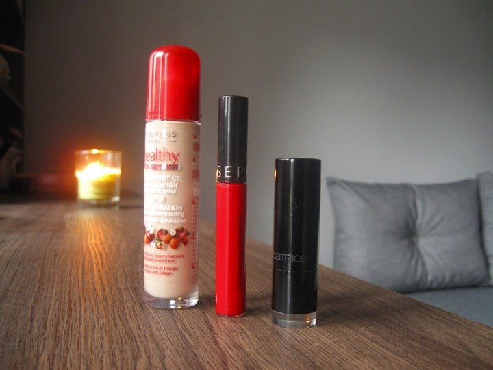 Bourjois healthy mix serum, sephora lip stain 01, catrice princess