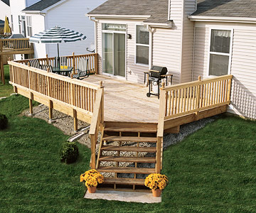 backyard deck white wooden backyard design ideas