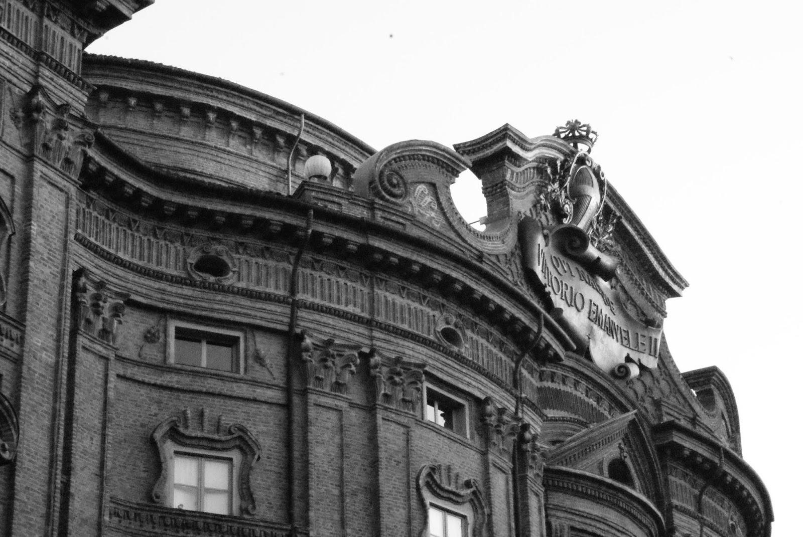 Particolare Palazzo Carignano, Torino