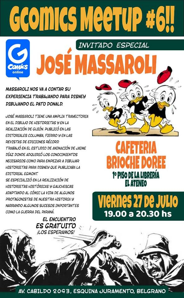 GComics MeetUp #6 en Belgrano, Cabildo 2093, CABA