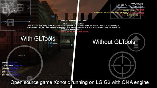 Main menggunakan Gl tools dan Tidak menggunakan Gl tools