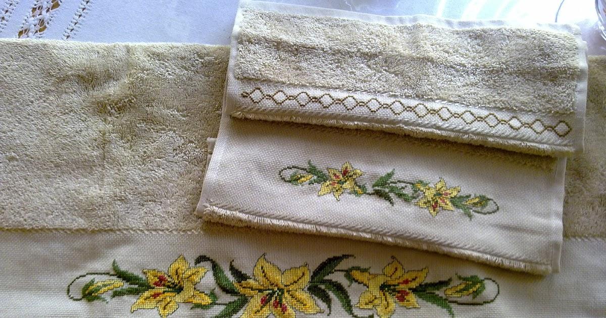 Creaciones de maribel cenefas de punto de cruz para toallas - Cenefas punto de cruz para toallas de bano ...