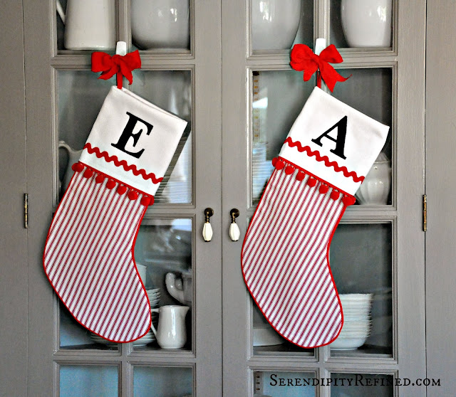 today im sharing how to make a traditional cuffed christmas stocking