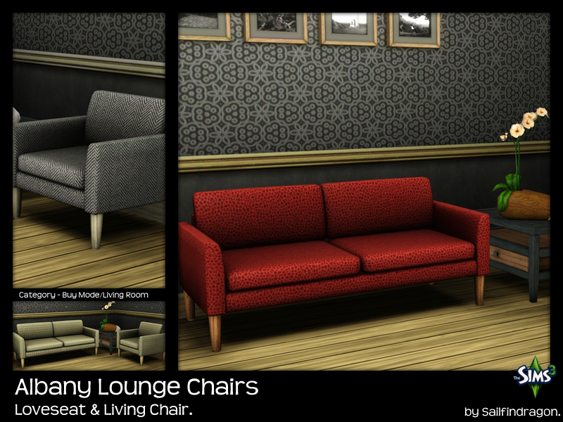 My Sims 3 Blog Albany Lounge Chairs by Sailfindragon