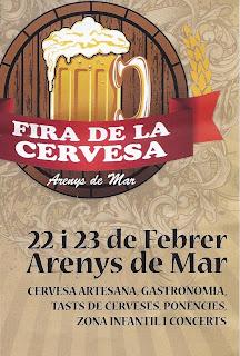 cartel de la feria de la cerveza de Arenys de Mar