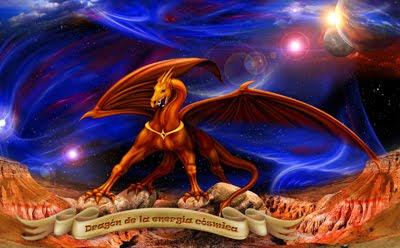 Dragón de la energía cósmica - Equilibrio emocional - Esoterismo - Buena suerte