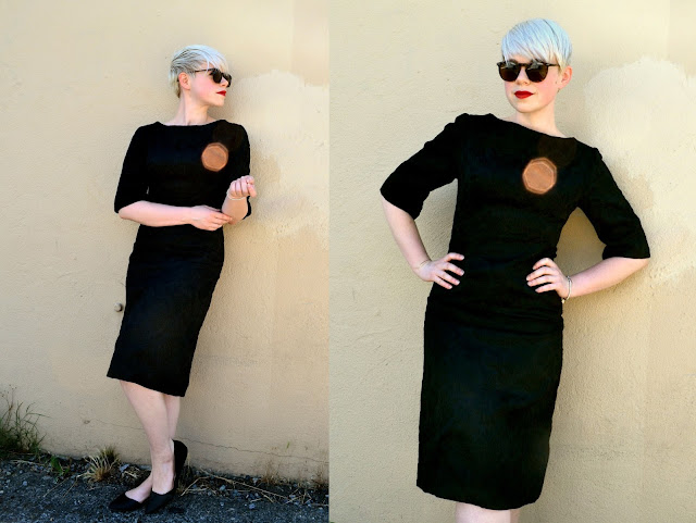 vintage, etsy, lbd, damask, 1960s fashion