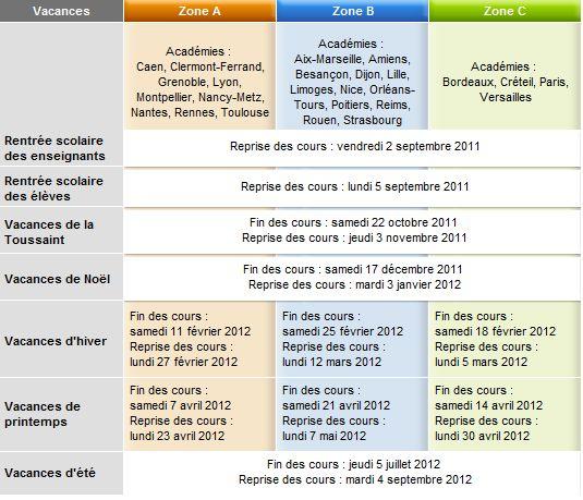 Calendrier scolaire 2012 vacances scolaire 2012 pdf - Vacances scolaires 2015 paris ...