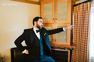Neal posing before his wedding - Posted by Patricia Stimac, Seattle Wedding Officiant