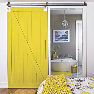 Painted Track System Barn Door