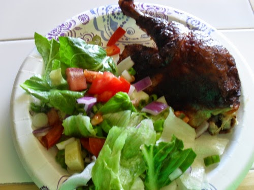 Smoked Chicken and Salad