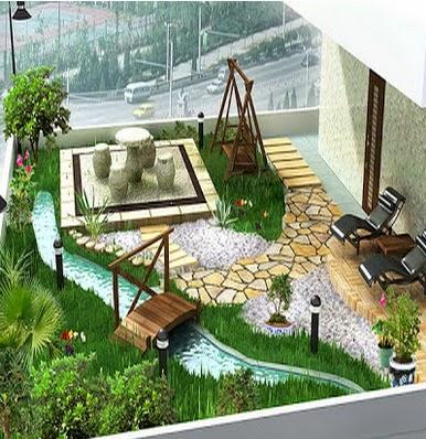 Desain Taman Interior Rumah Elit dan Elegan