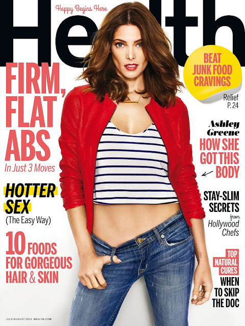 Actress, Model @ Ashley Greene - Health USA, July 2015