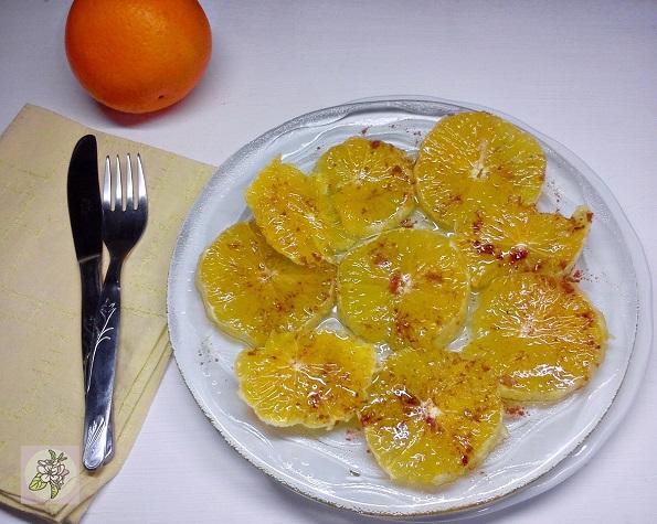 Carpaccio de Naranja a la Canela