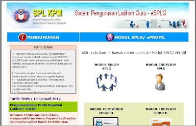 Sistem Pengurusan Latihan Guru eSPLG