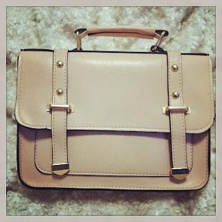 bolso satchel rosa palo
