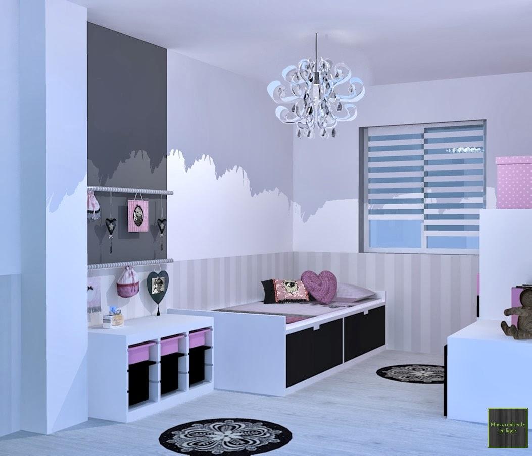 Chambre Romantique Ikea : Mon architecte en ligne chambre fillette romantique baroque
