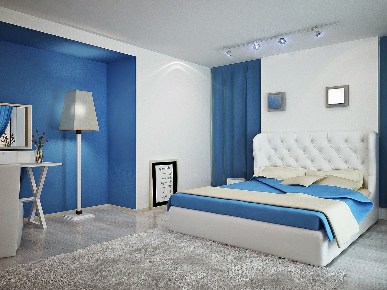 Master Bedroom Ideas Blue And White