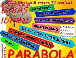 Ahli Instalasi Service Pasang Parabola