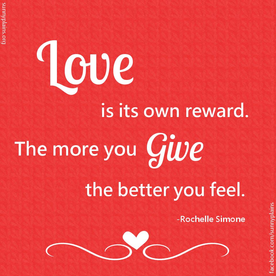 love is its own reward