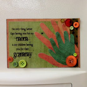 Handprint Keepsake for Grandma with cute saying