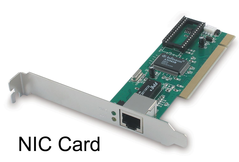 NIC atau Network Interface Card umumnya menggunakan port RJ-45 untuk ...