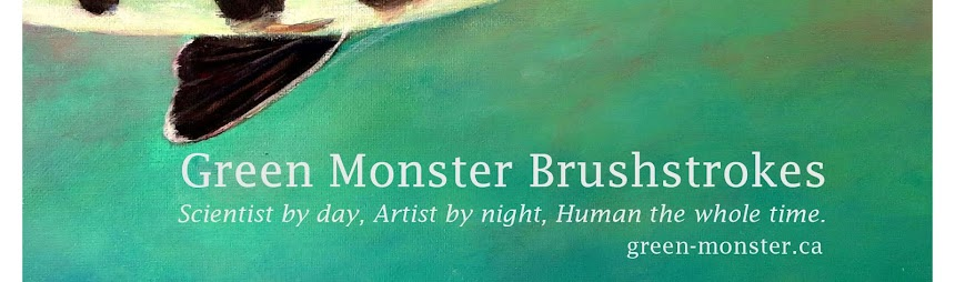 Green Monster Brushstrokes