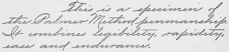 Palmer Handwriting Samples