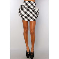 draped and ballooned skirt