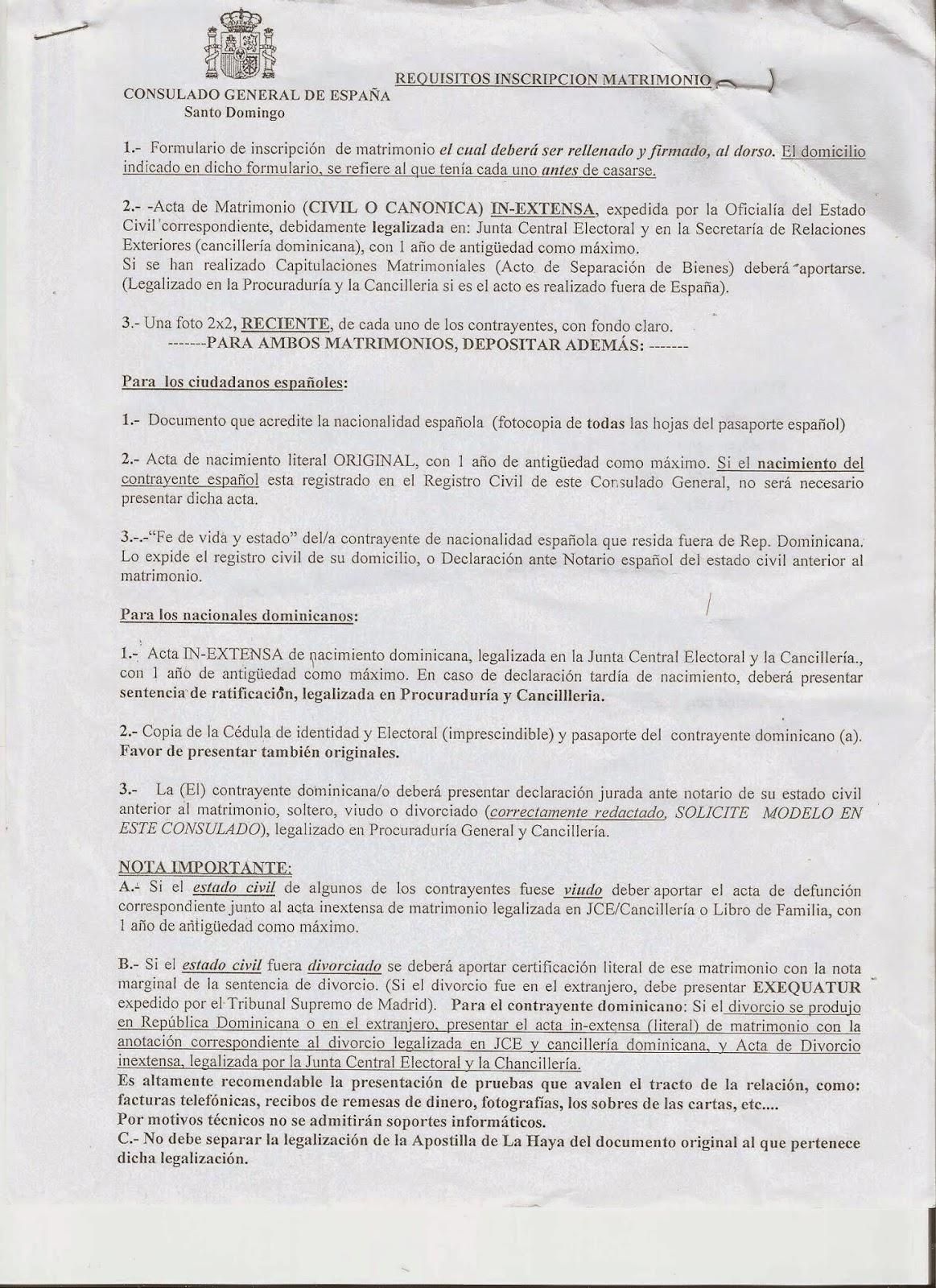 Amor Negrito emigrando a España: Inscripción del Matrimonio en el ...