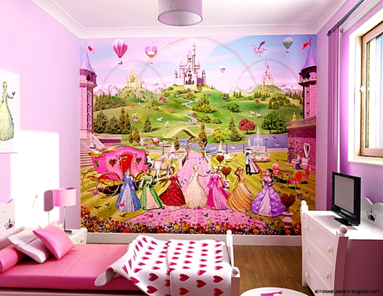 Comely Girls Bedroom Wall Sticker Fantastic Decoration Ideas With
