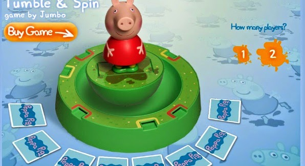 Peppa Pig Tumble Spin  game games free fun jigsaw paint puzzle