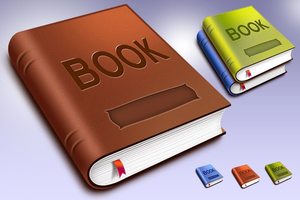 Book Template Icons PSD