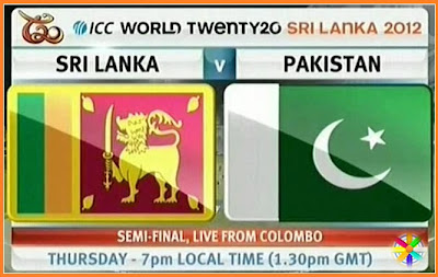 Sri Lanka Vs Pakistan Livestreaming Score card t20 World cup 2012 1st Semi-final live score Images