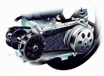 gambar bagian cvt pada motor matic