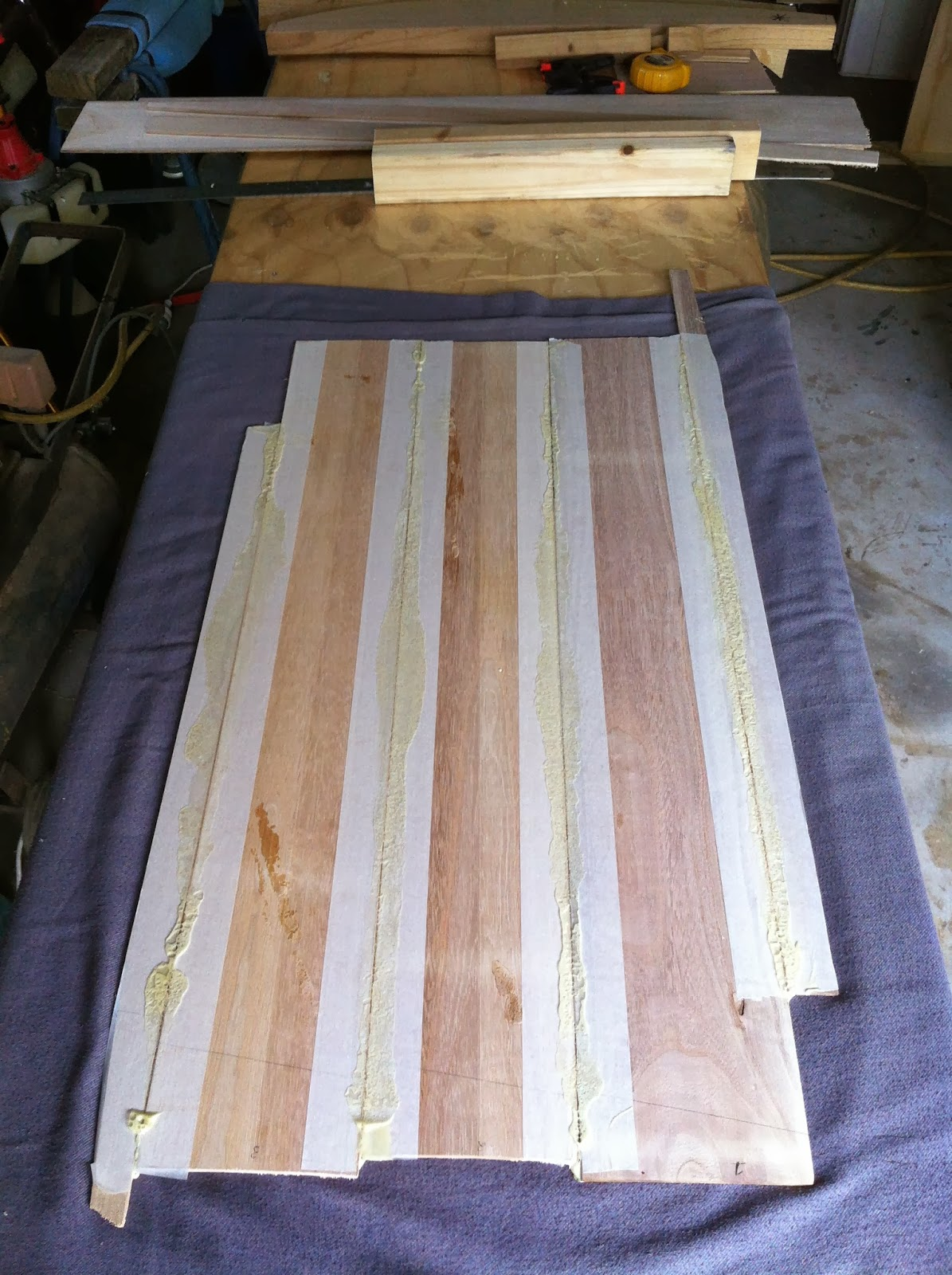 wood surfboard panels