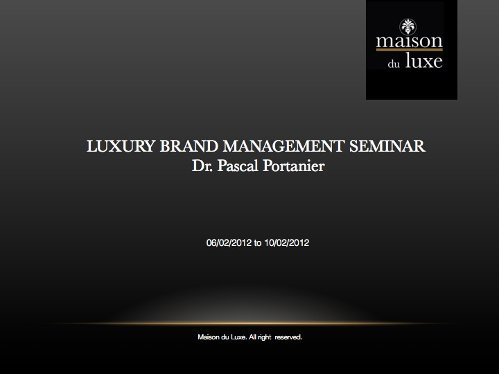 luxury brand management thesis Luxury industry and to provide a clear overview about the image of luxury brands being sold online the main outcome of the theory chapter was that brand identity is an essential concept.