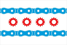 The Chicago Bike Flag