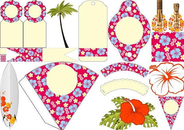 hawaiian party  free party printables