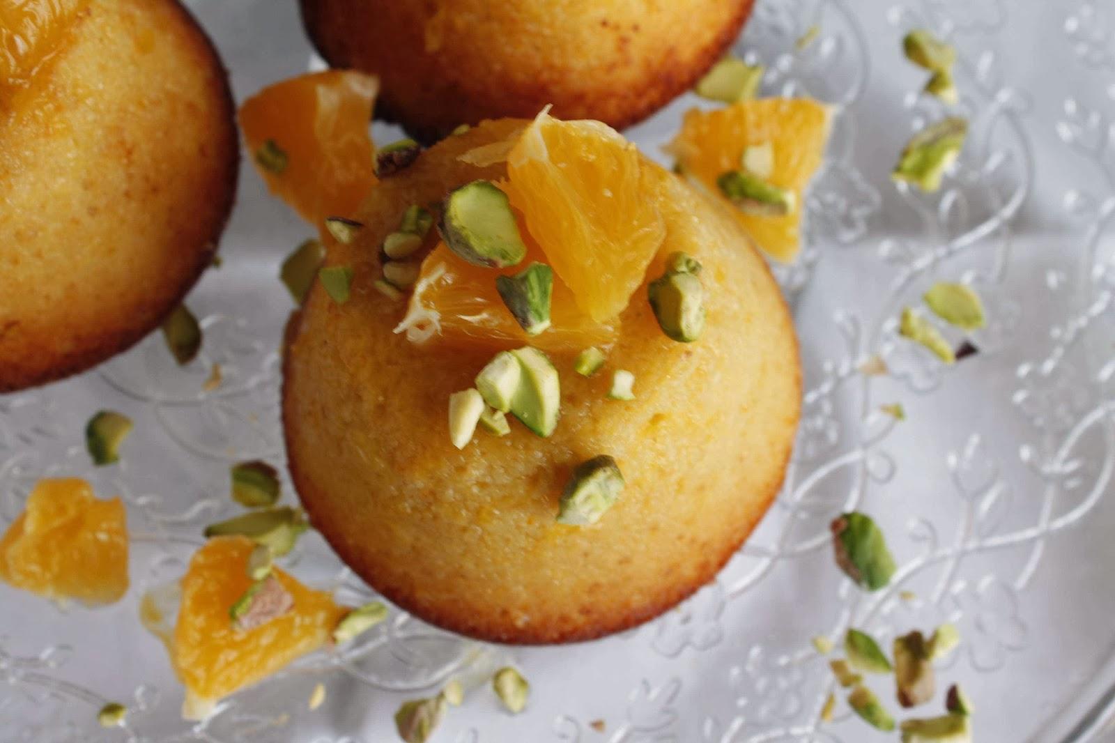 Receta Sicilian orange cakes o bizcocho de naranja siciliano